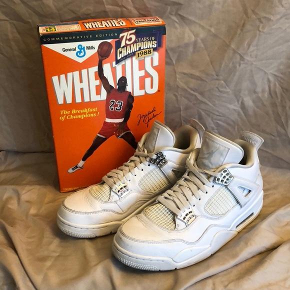 sports shoes 36ed3 89ae8 JORDAN SHOES & JORDAN WHEATIES BOX